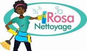 Rosa Nettoyage Reinigungsfirma Logo